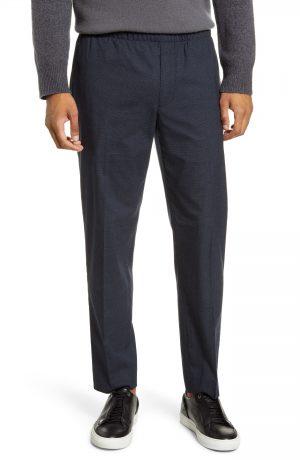 Men's Club Monaco Elastic Waist Slim Fit Pants, Size Large - Blue