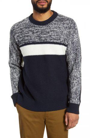 Men's Club Monaco Slim Fit Fisherman Sweater, Size Small - Blue
