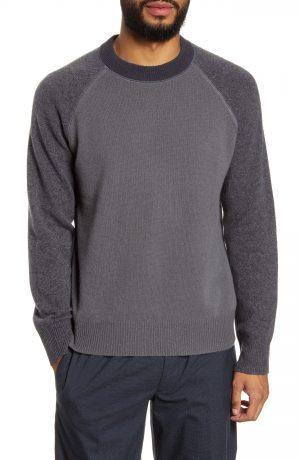Men's Club Monaco Slim Fit Garment Dye Sweater, Size Small - Grey