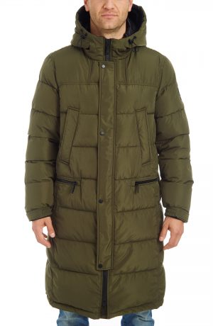 Men's Vince Camuto Long Hooded Parka, Size Small - Green