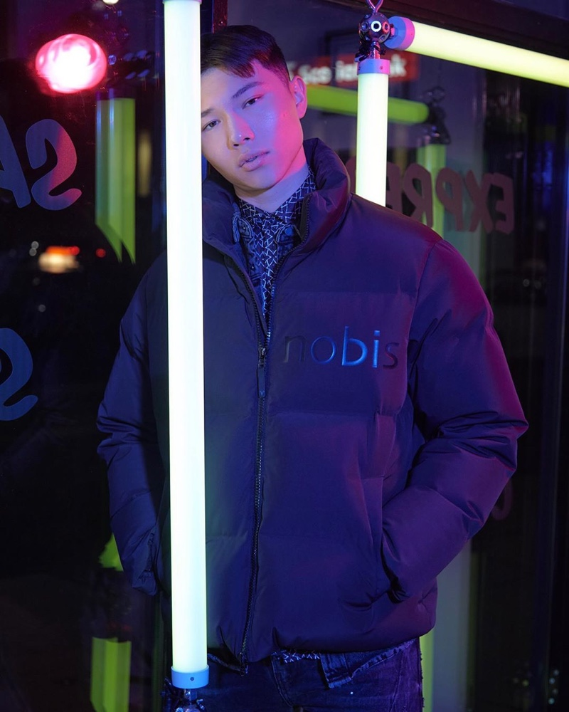 Sean Kemp dons Nobis' limited-edition puffer jacket for Black Friday.