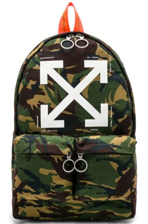 OFF-WHITE Arrows Backpack in Abstract,Green