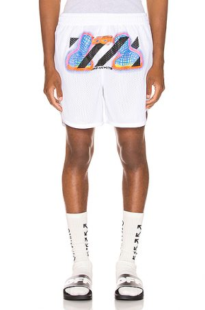 OFF-WHITE Thermo Mesh Shorts in White