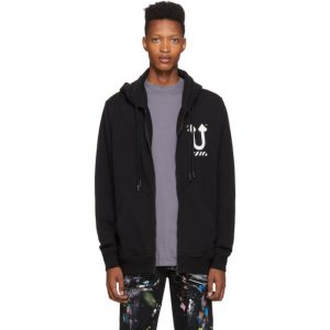 Off-White Black Undercover Edition Skeleton RVRS Arrows Zip Hoodie