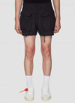 Off-White Front Pocket Shorts in Black size XXL