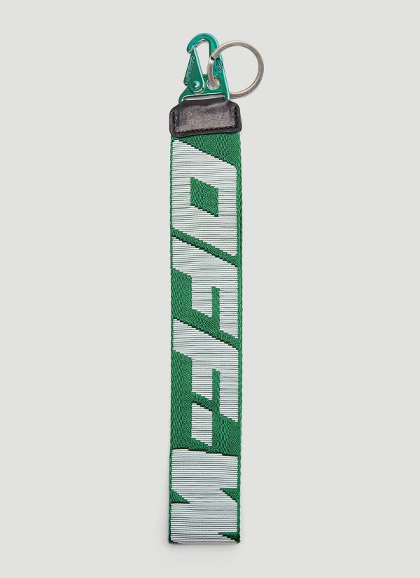 Off-White Industrial Key Ring in Green size One Size