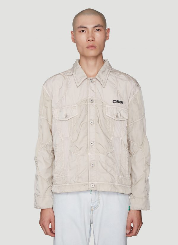 Off-White Panelled Jacket in Grey size M