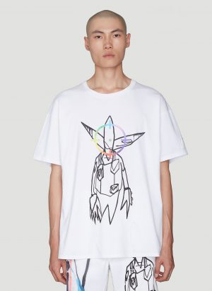 Off-White Printed T-Shirt in White size XL