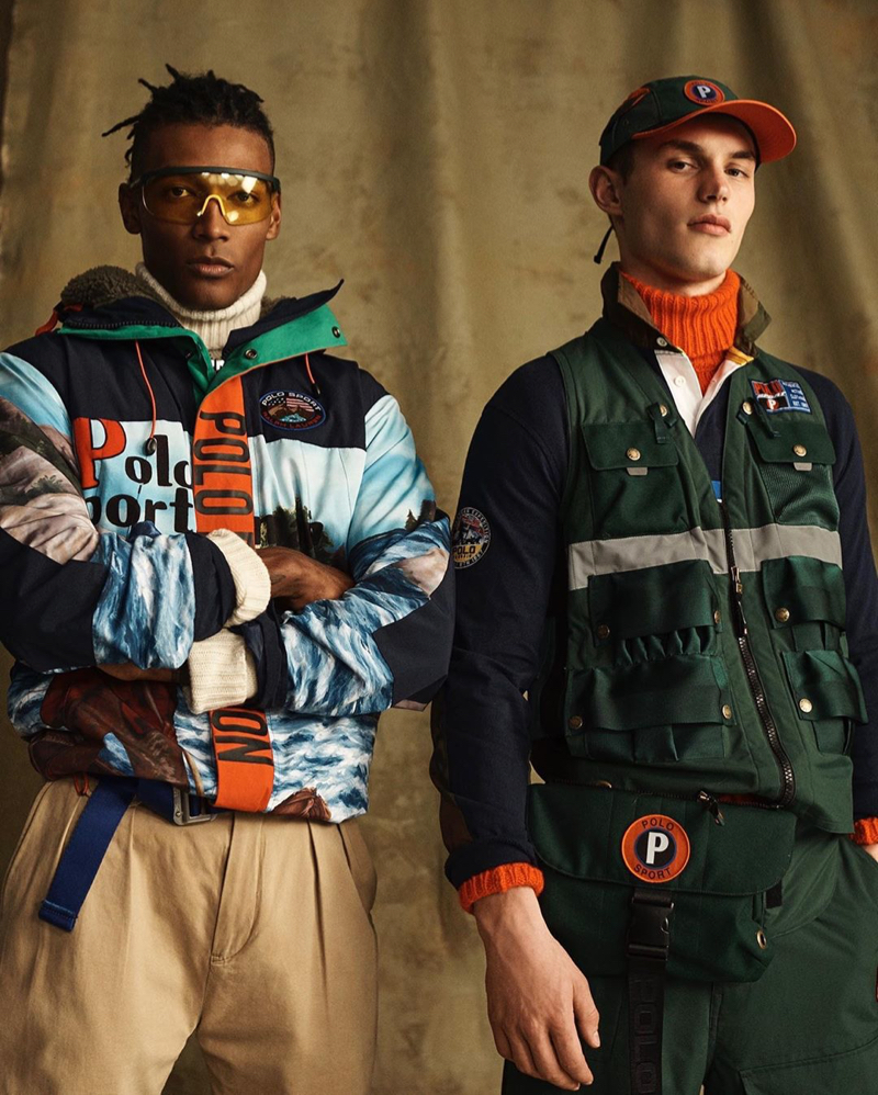 Models David De Jesus and Kit Butler come together in looks from the POLO Sport Ralph Lauren collection.