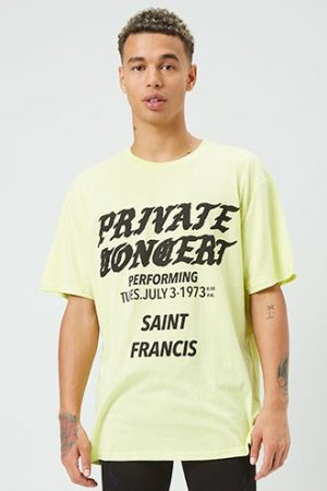 Private Concert Graphic Tee at Forever 21 , Yellow/black