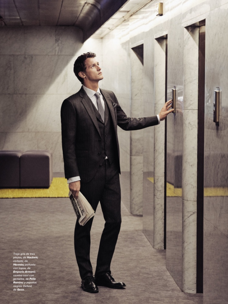 Rutger Schoone is Dashing in Smart Suits for Código Único