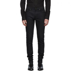 Saint Laurent Black Skinny Raw Jeans