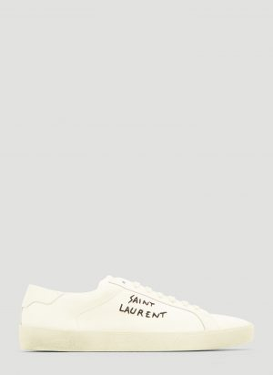 Saint Laurent Signature Court Sneakers in White size EU - 45