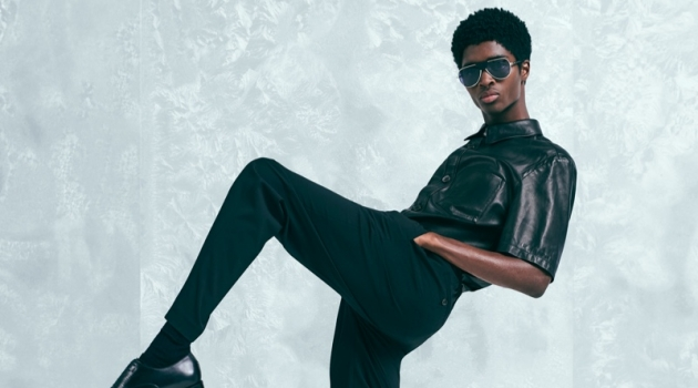 Alton Mason fronts Salvatore Ferragamo's holiday 2019 campaign.