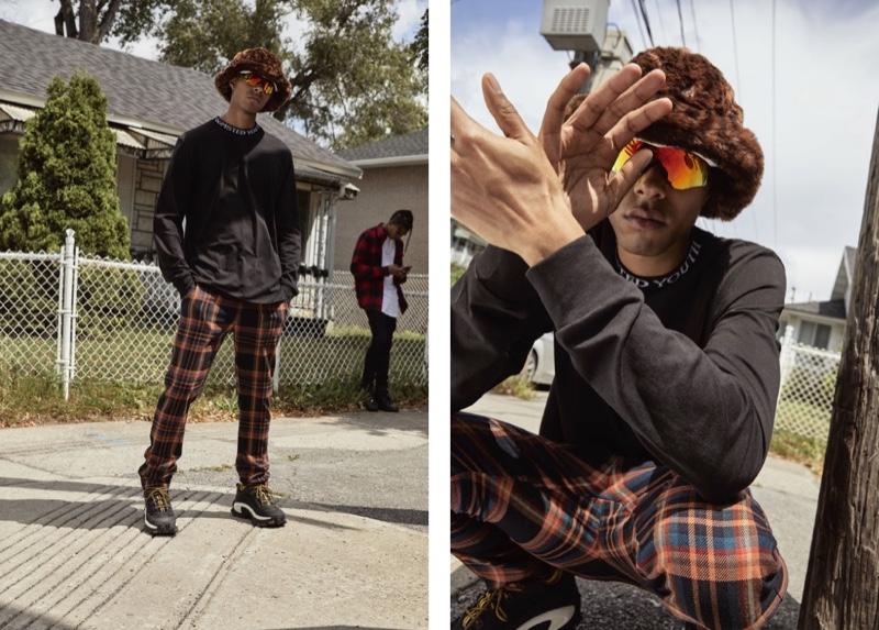 Daouda Ka embraces fashion-forward streetwear in a look from Djab.