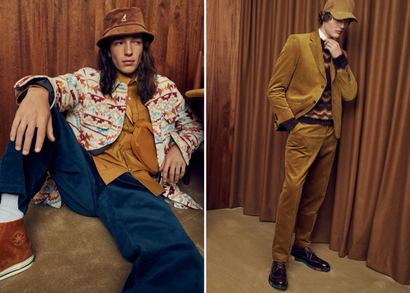 Gabriel Christensen and Darwin Gray connect with Simons to showcase velour fashions for fall.