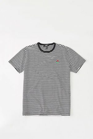 Striped Rose Graphic Tee at Forever 21 , Black/white