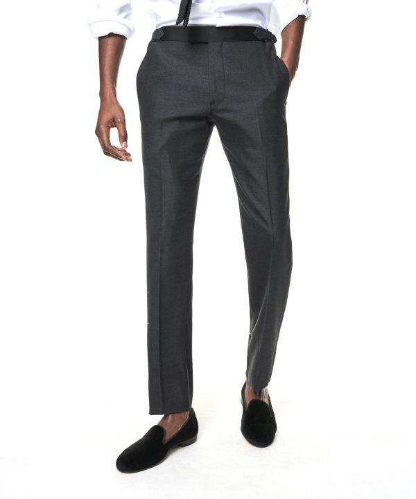 Sutton Tuxedo Pant in Grey