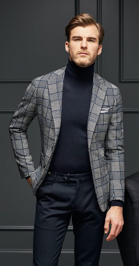 Patrick Kafka Dons Classic Style in Tagliatore Fall '19 Collection