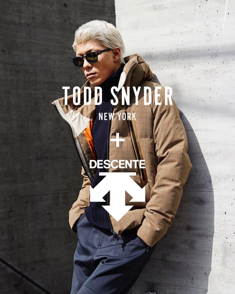 Jumpei wears a Todd Snyder + Descente allterrain Mizusawa down jacket $1,680.