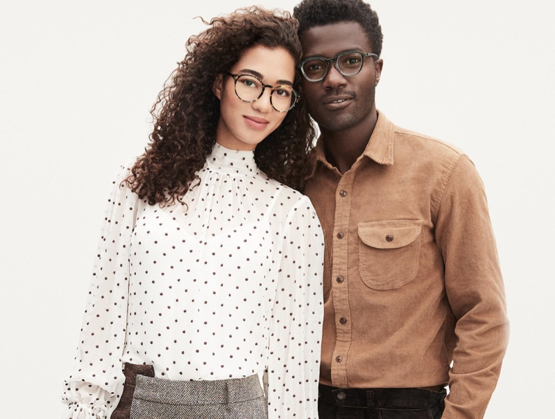 Warby Parker showcases its Calder and Briggs eyewear styles.