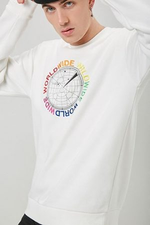 World Wide Compass Graphic Tee at Forever 21 , White/multi