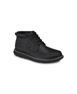 Aston Marc Men's Moc-Toe Fashion Chukka Boots Men's Shoes
