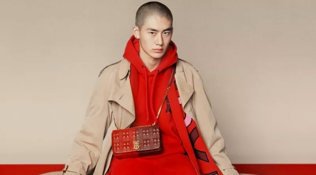 Liang Jiyuan stars in Burberry's 2020 Chinese New Year's campaign.