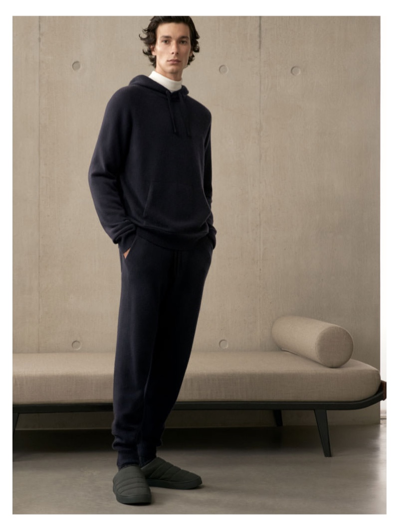 Making a case for leisurewear, Anton Jaeger models a look from COS.