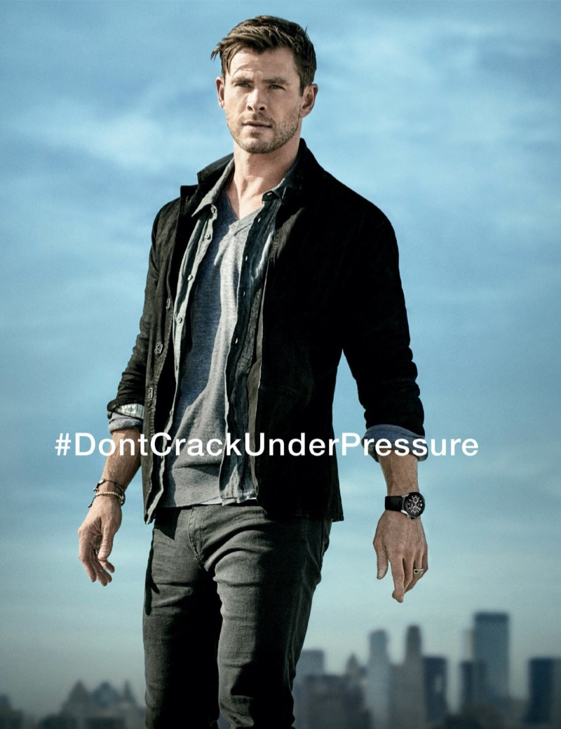 Australian actor Chris Hemsworth connects with TAG Heuer for its #DontCrackUnderPressure campaign.