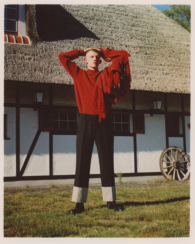 Connor Newall Explores Belgian Countryside for Italian Vogue