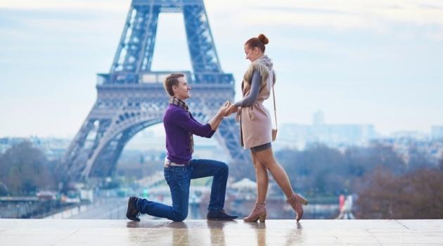 Couple Engagement Paris Eiffel Tower