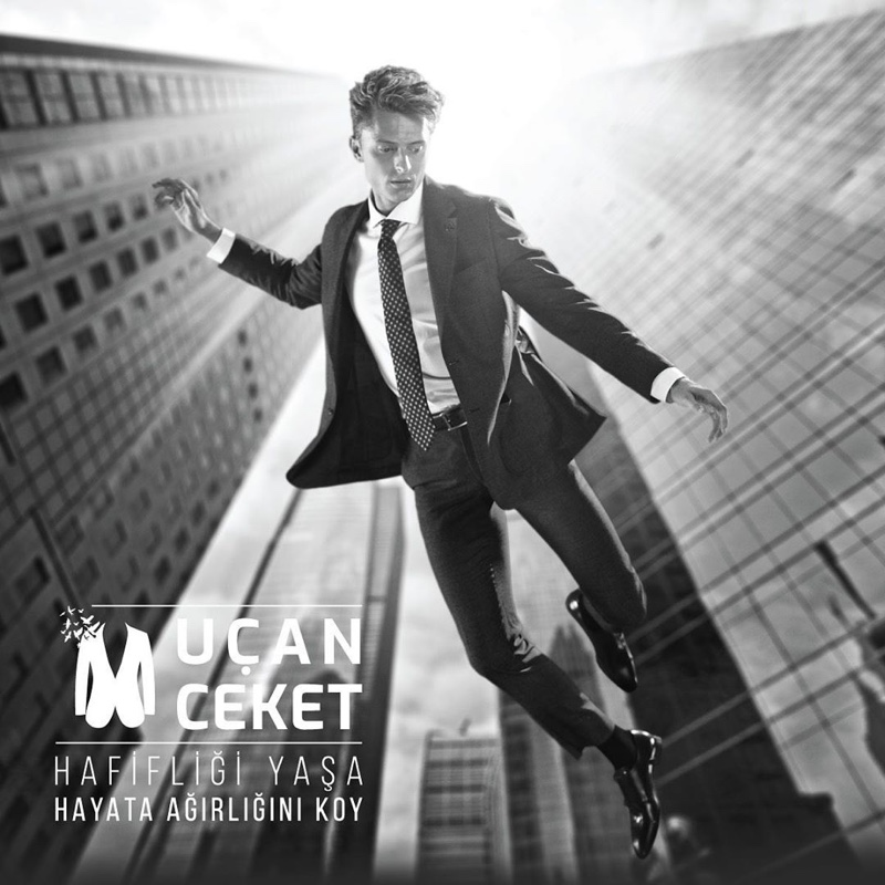 Max Rendell stars in Damat Tween's Flying Jacket campaign.