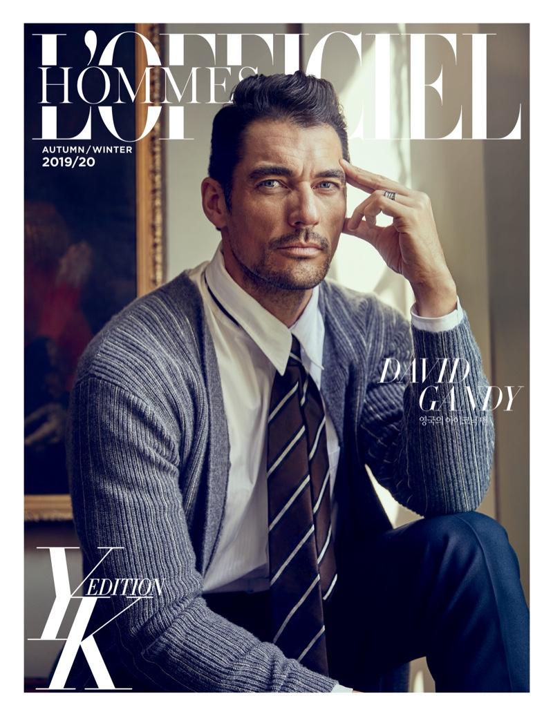 David Gandy is Dashing for L'Officiel Hommes Korea Cover Story