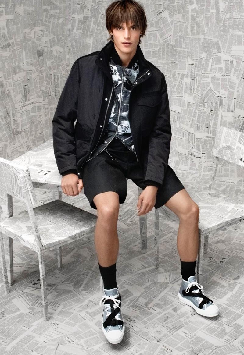 Parker van Noord shows a youthful ease in a Dior Men resort 2020 look for Holt Renfrew.
