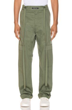 Fear of God Baggy Cargo Trouser in Green