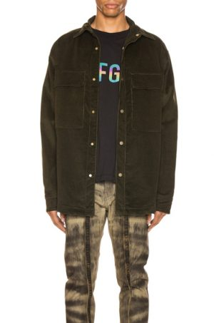 Fear of God Corduroy Shirt Jacket in Green