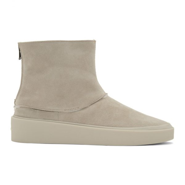 Fear of God Grey Polar Wolf High Boots