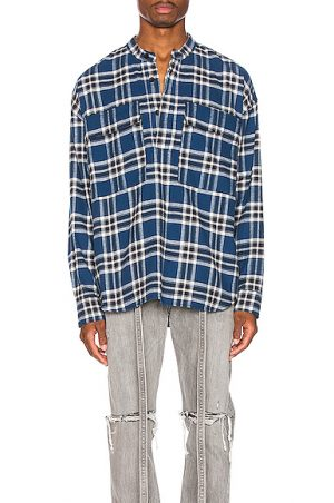 Fear of God Pullover Henley in Blue