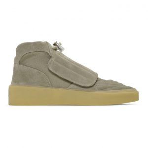 Fear of God Taupe Skate High-Top Sneakers