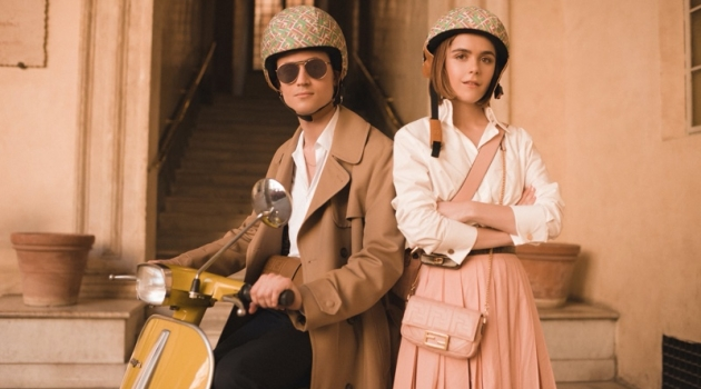 Christian Coppola and Kiernan Shipka star in Fendi's Baguette Friends Forever campaign.