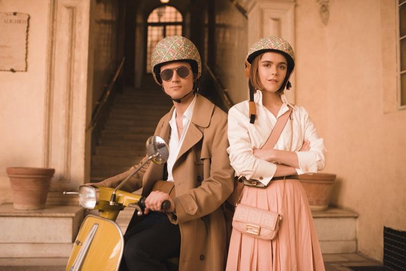 Christian Coppola and Kiernan Shipka star in Fendi's Baguette Friends Forever campaign.