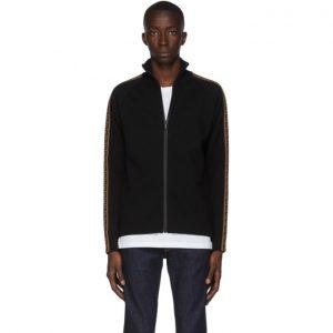 Fendi Black Forever Fendi Zip-Up Sweater