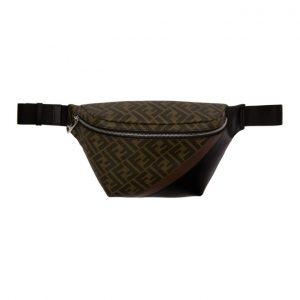 Fendi Black and Brown Forever Fendi Belt Pouch