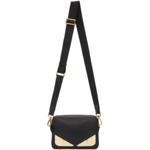 Fendi Black and Gold Bag Bugs Pouch