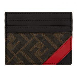 Fendi Black and Red Forever Fendi Card Holder