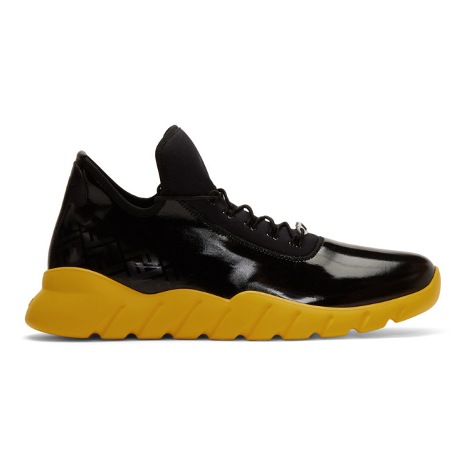 fendi black and yellow sneakers off 58