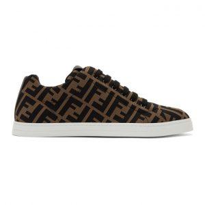 Fendi Brown and Black Forever Fendi Sneakers