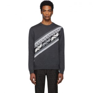 Fendi Grey Wool Forever Fendi Sweater