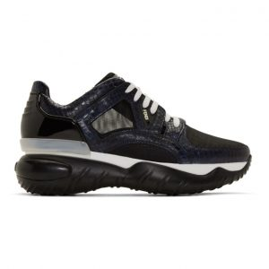 Fendi Navy Python Fancy Sneakers